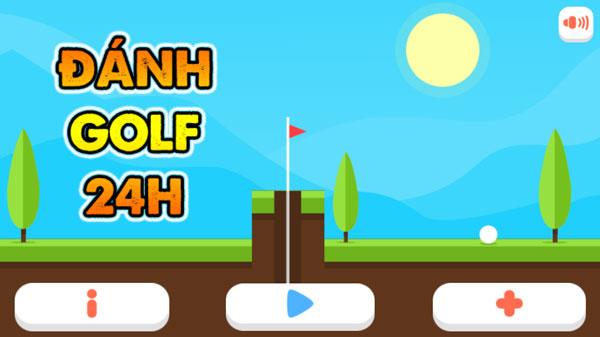 Chơi game Đánh Golf 24h - GameVui