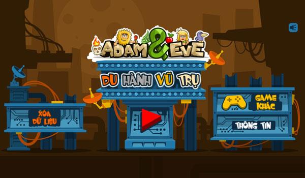 Chơi game Adam và Eva Du hành vũ trụ - GameVui