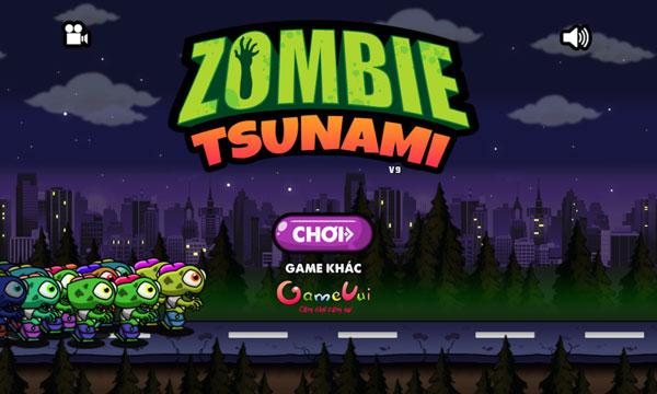 Chơi game Zombie Tsunami - GameVui