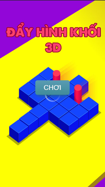 Chơi game Đẩy hình khối 3D - GameVui