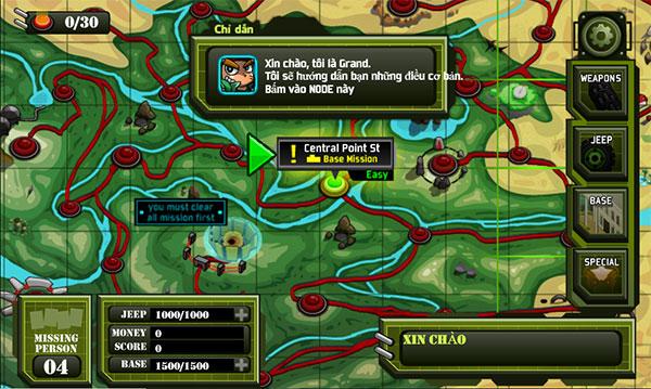 Bản đồ các cứ điểm giao tranh