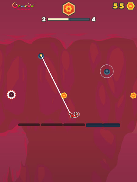 Màn hình chơi game người que Stickman đu dây