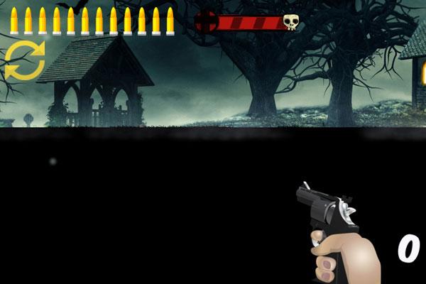 Màn hình chơi game bắn súng diệt Zombie