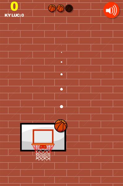 Ném bóng vào rổ để ghi điểm