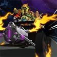 Ninja rùa lái xe