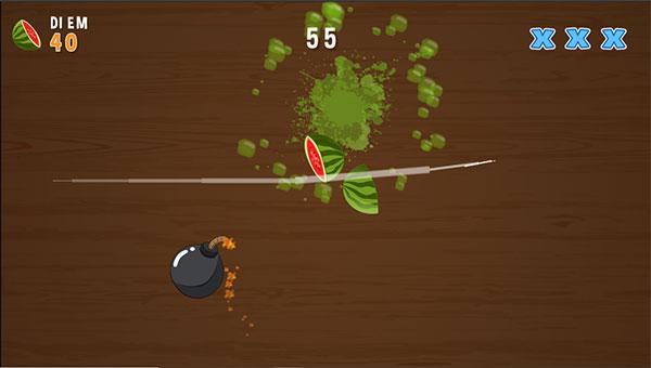Chém đứt trái cây