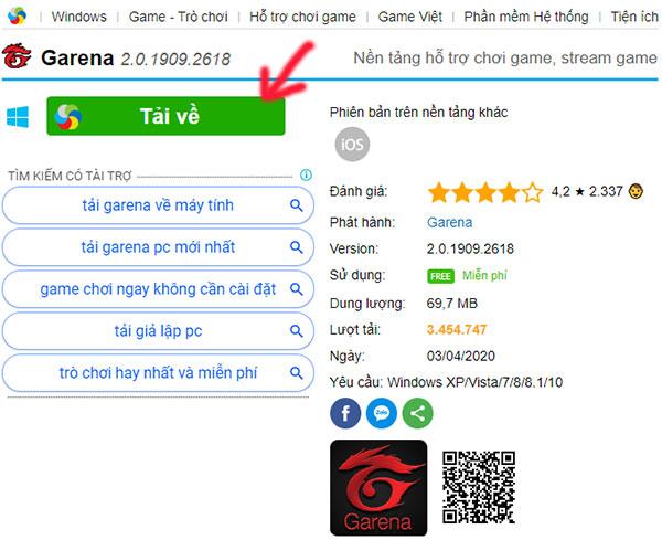 Hướng dẫn đăng ký tài khoản, tạo tài khoản Garena chơi game online