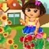 Dora cắm hoa